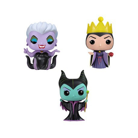 Figurine Pop Pocket Tins Disney Maleficent, Ursula, Evil Queen (3 pcs) Funko Boutique Geneve Suisse