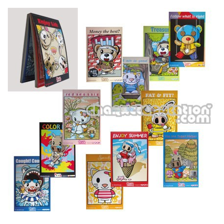 Figur Cartes Postales Snorty & friends by Steven Lee Geneva Store Switzerland