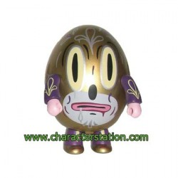 Figur Qee Hump Qee Dump Gold by Gary Baseman Toy2R Geneva Store Switzerland