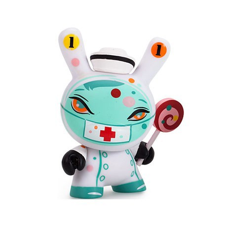 Figur Dunny The 13 Nurse Casket Chase by Brandt Peters Kidrobot Dunny and Kidrobot Geneva