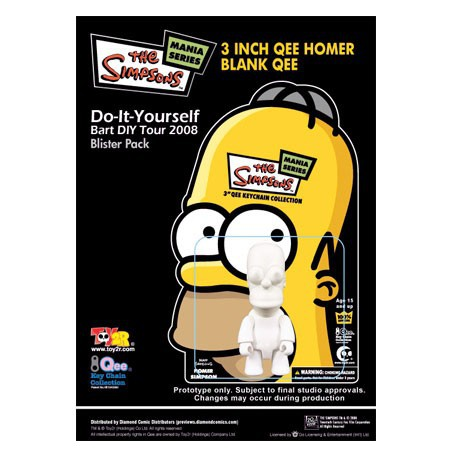 Figurine Qee Homer à Customiser Toy2R Boutique Geneve Suisse