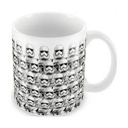 Star Wars The Force Awakens Stormtroopers Pattern White Ceramic Mug