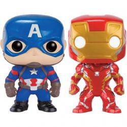 Figurine Pop Marvel Civil War Captain America Iron Man 2-Pack Edition Limitée Funko Boutique Geneve Suisse