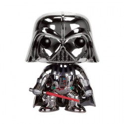 Figurine Pop Star Wars Chrome Darth Vader Edition Limitée Funko Boutique Geneve Suisse