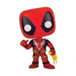 Figurine Pop Marvel Deadpool Rubber Chicken Edition Limitée Funko Boutique Geneve Suisse