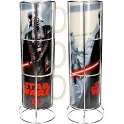 3 Tasse Star Wars Empilables Vader et Stormtroopers