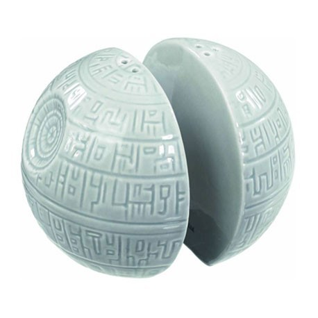 Figur Star Wars Salt and Pepper Shakers Death Star Ceramic Toys and Accessories Geneva