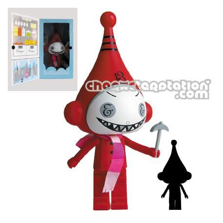 Figurine Ice-Bot Rouge par Dalek (27 cm) Kidrobot Grandes figurines Geneve