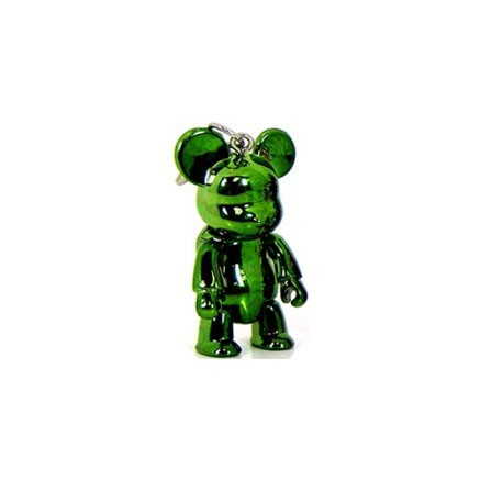 Figurine Qee mini Bear Metallic Vert Toy2R Qee Geneve