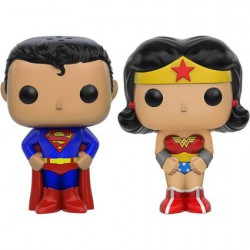 Figurine Pop Superman et Wonder Woman Salière et Poivrière Funko Boutique Geneve Suisse