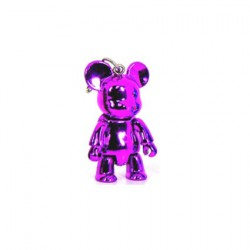 Qee mini Bear Metallic Violet
