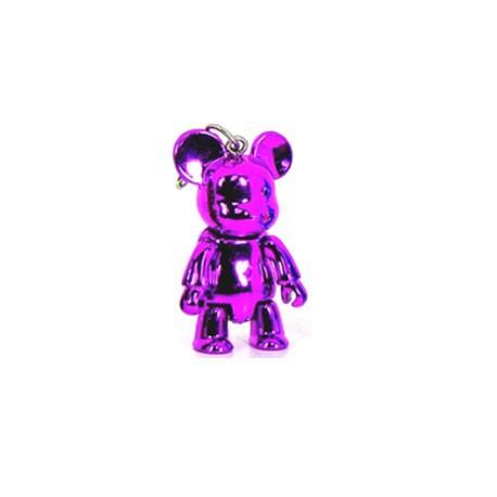 Figur Qee mini Bear Metallic Violet Toy2R Geneva Store Switzerland