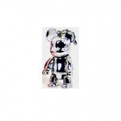 Qee Bear Metallic Silver