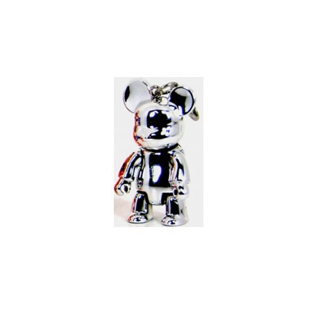 Figurine Qee Bear Metallic Silver Toy2R Qee Geneve