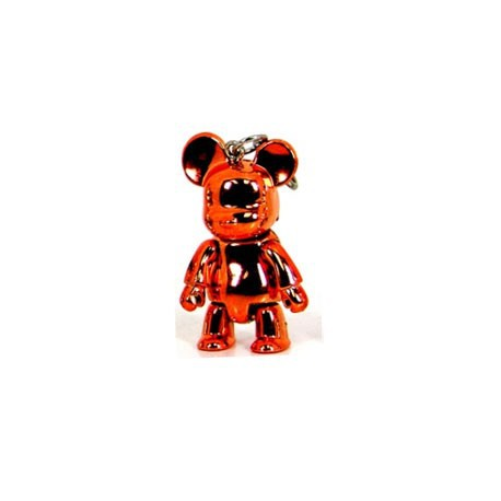 Figur Qee mini Bear Metallic Orange Toy2R Geneva Store Switzerland