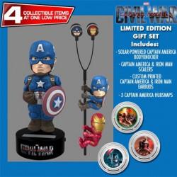 Ecouteurs Captain America Civil War à Energie Solaire Edition Limitée