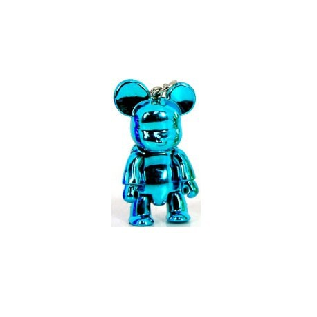 Figur Qee mini Bear Metallic Blue Toy2R Geneva Store Switzerland