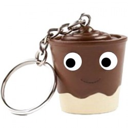 Yummy World Pudding Cup Chocolate Keychain by Kidrobot