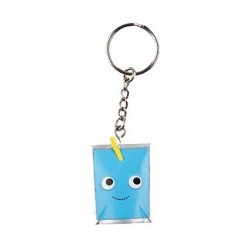 Figur Yummy World Blue Juice Box Keychain by Kidrobot Kidrobot Geneva Store Switzerland