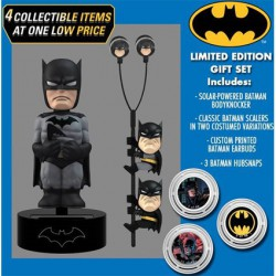 Gift Set DC Comics Classic Batman Solar Powered Body Knocker 15cm Earbugs Scalers & Hubsnaps Limited Edition